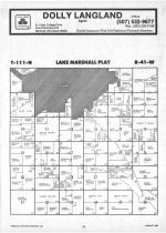 Lake Marshall T111N-R41W, Lyon County 1987